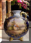 Royal Rudolstadt Cobalt Blue and Gold Vase