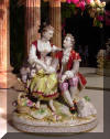 Oldest Volkstedt Porcelain Factory Courting Couple