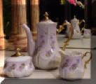 Hand Painted Tea Set Three Pieces